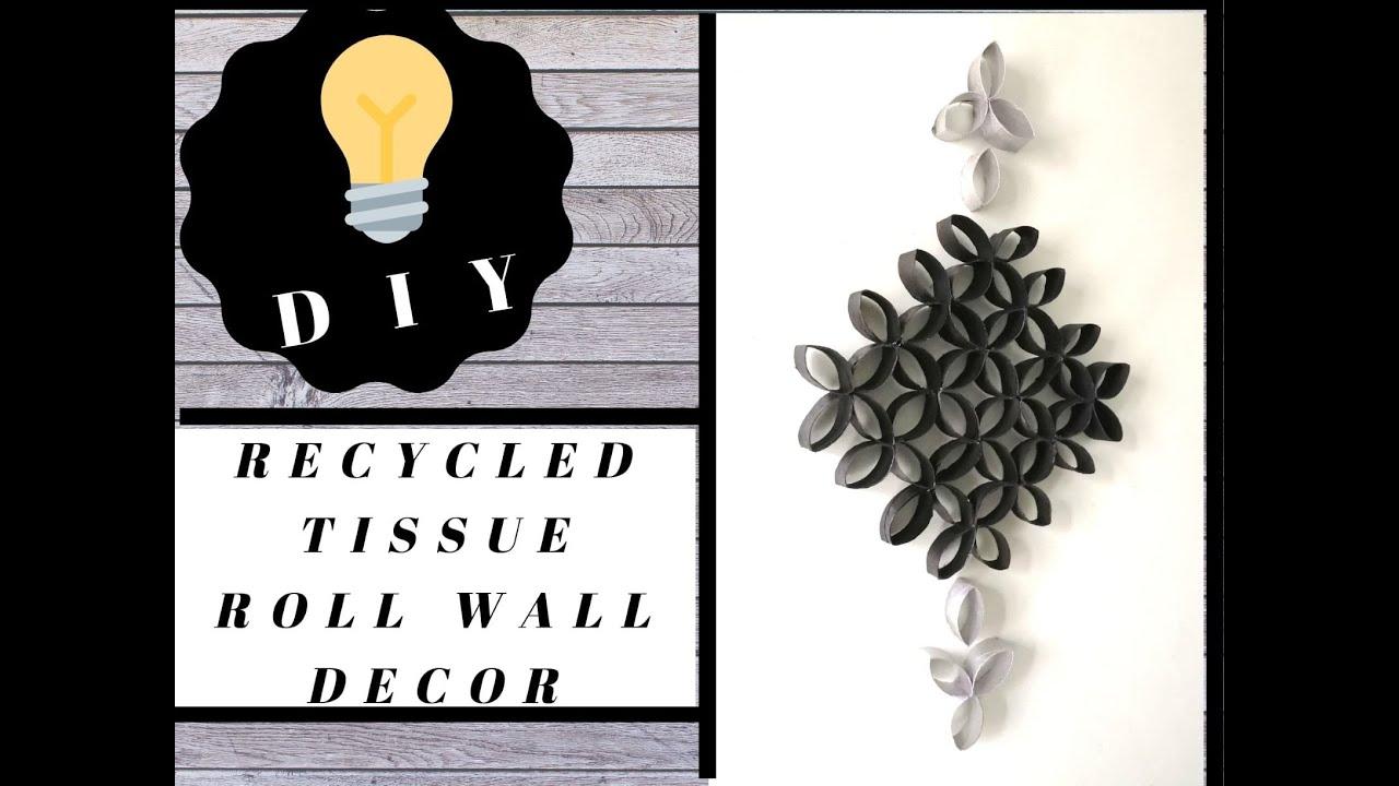 tissue roll wall art