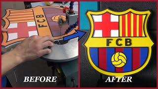 Fc barcelona logo / how to make logo/emblem best on