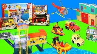 Feuerwehrmann Sam: Feuerwehrautos und Stationen Unboxing   Neue Spielzeug Folgen für Kinder
