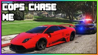 GTA 5 Roleplay - Cops Chase My Stolen Lamborghini | RedlineRP