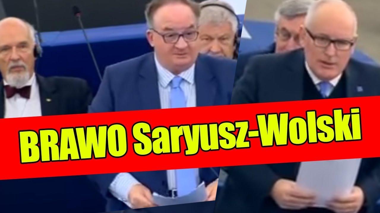 BRAWO! Jacek Saryusz-Wolski: TIMMERMANS broni PATOLOGII TOTALNEJ OPOZYCJI!