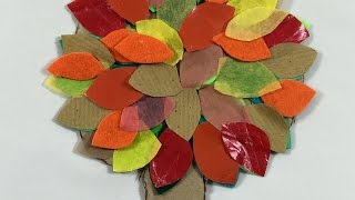 How to make fall autumn paper trees - simple kids craft activity
