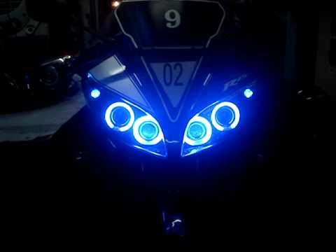 R15 V2 Modified With Projector Lights Yamaha R15 Vers...