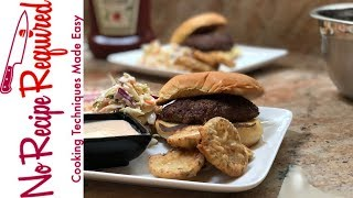 Review of Dinnerly's Grass Fed Beef Burger - NoRecipeRequired.com
