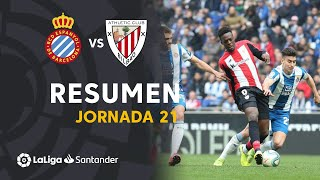 Resumen de RCD Espanyol vs Athletic Club (1-1)