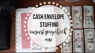 DAVE RAMSEY INSPIRED | Cash Envelope Budgeting | August Part 1 Envelope Stuffing