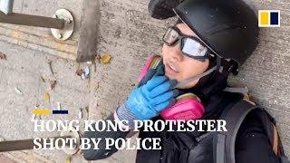 Hong Kong protester shot by police