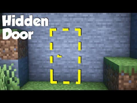 Minecraft: How to build a Hidden Door! (easy)