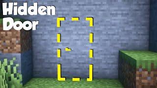 Minecraft: How to buİld a Hidden Door! (easy)