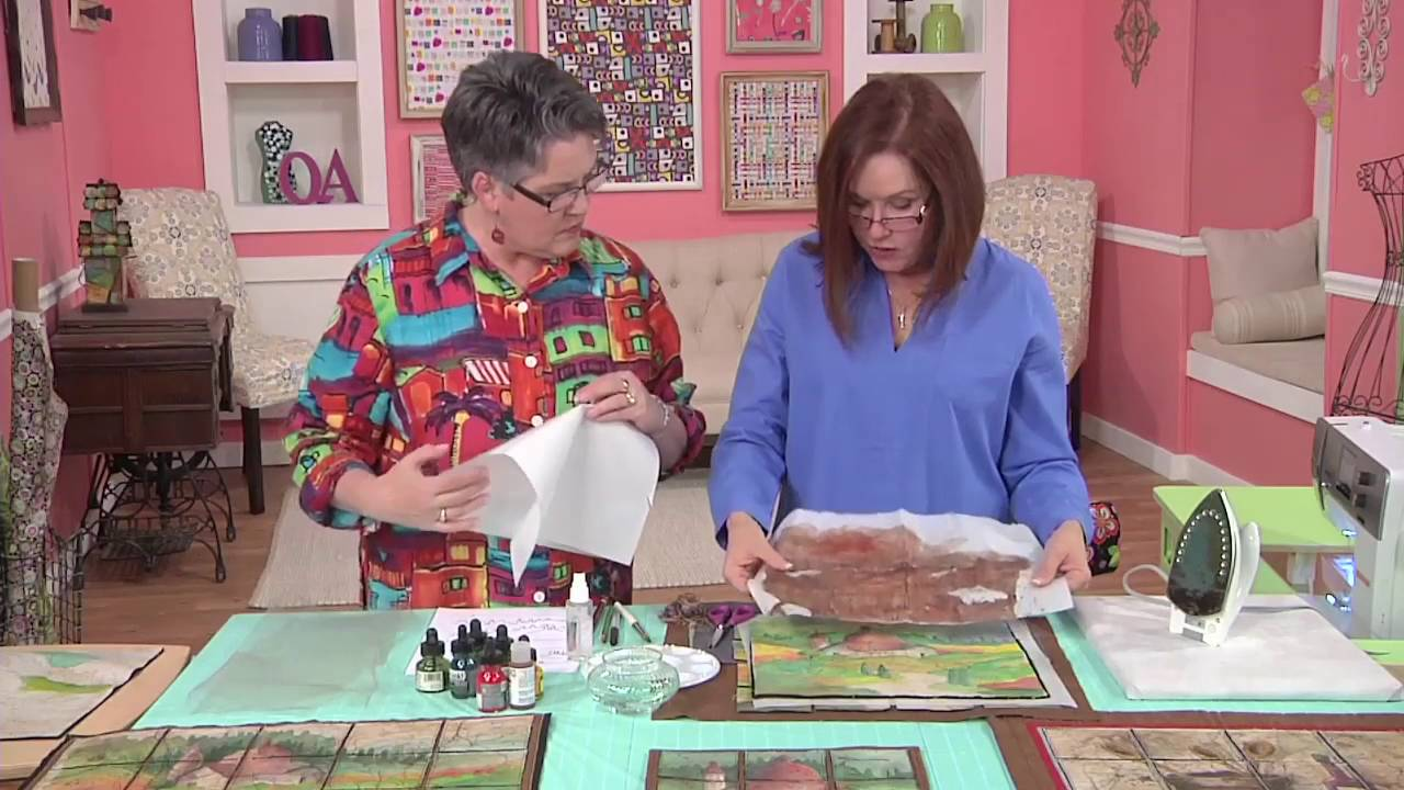 Quilting Arts Tv Episode 1702 Paint And Stitch Youtube