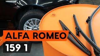 Hogyan cseréljünk Ablaktörlő ALFA ROMEO 159 Sportwagon (939) - video útmutató