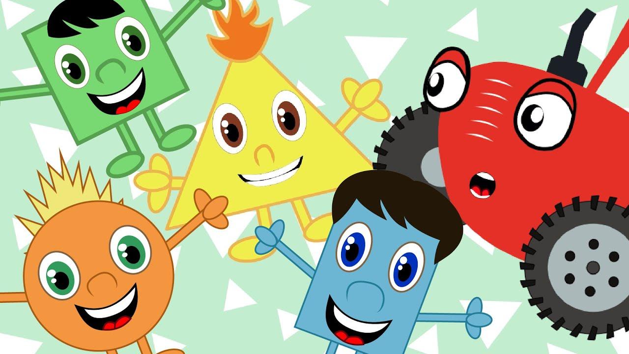 Учим геометрические фигуры - Песенки для детей - Тыр тыр трактор
