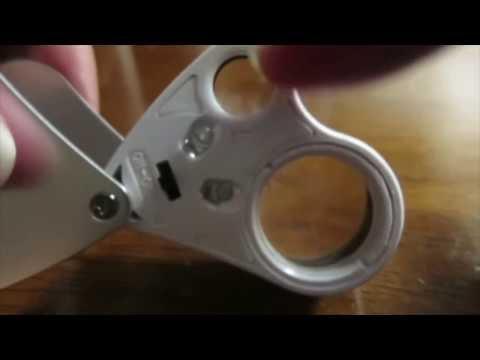 Jeweler Loupe, RISEPRO® Illuminated Jewelry LED eye Loupe Magnifier