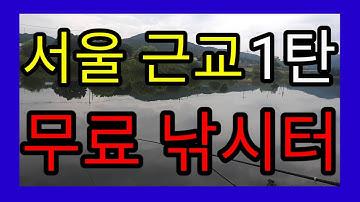서울 근교 무료 낚시와 무료 주차까지? 붕어,잉어,배스,가물치까지