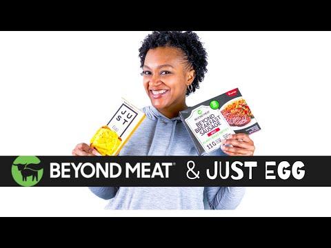 Vegan Breakfast Sandwich with Beyond Sausage and Just Egg | Plant-Based Breakfast Alternative