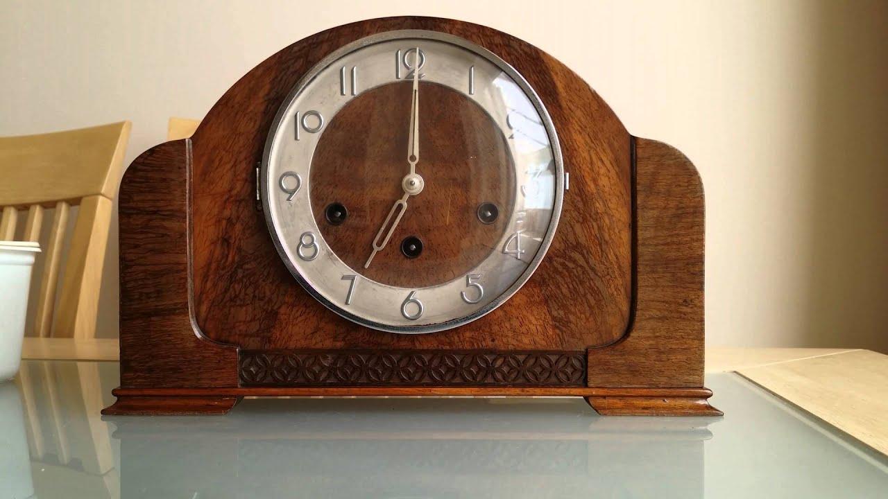 kienzle haller art deco westminster chime napoleon hat mantle clock chiming - Mantle Clock