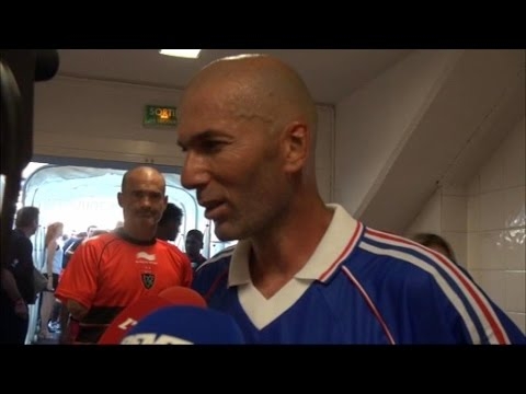 """Présidence de la Fifa: """"Platini est la personne idéale"""", estime Zidane"""