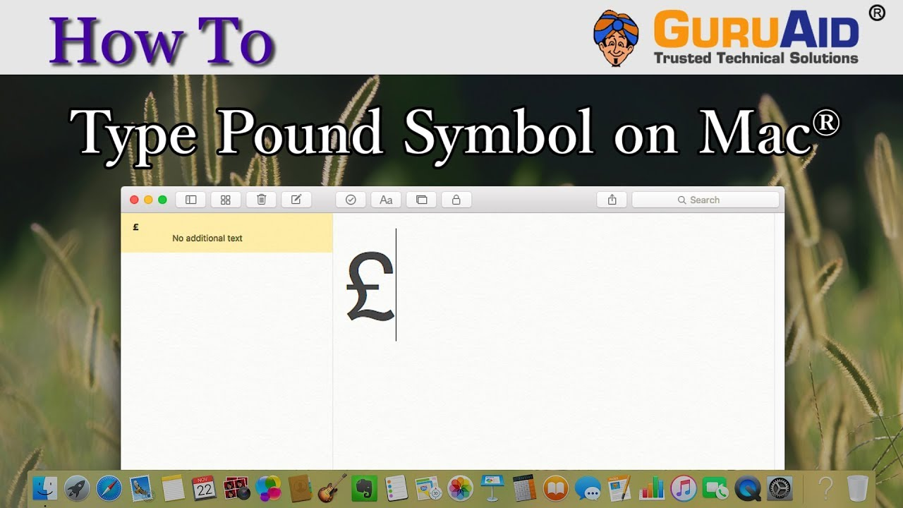 How To Type Pound Symbol On Mac Guruaid Youtube