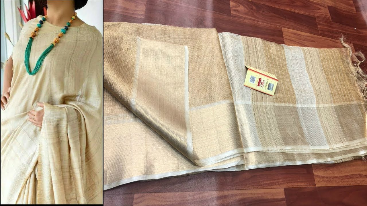 924122e05e370c 10 Pure Tussar Silk Sarees With Price To Buy Online - YouTube