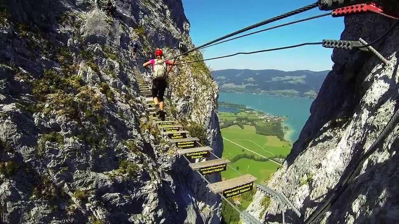 Klettersteig Hallstatt : Klettersteig hallstatt youtube
