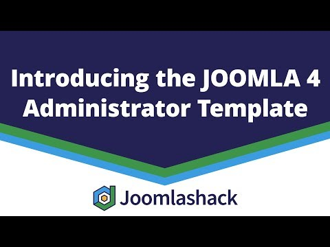 Introducing The Joomla 4 Administrator Template