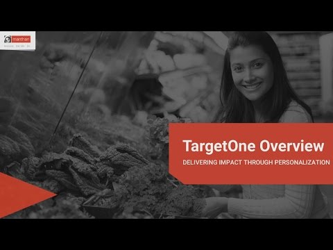 TargetOne Personalized Marketing Overview
