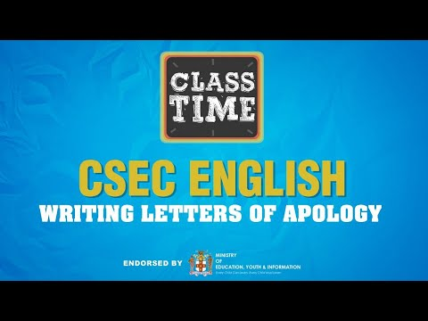 CSEC English | Writing Letters of Apology - May 27 2021