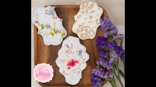 How to Create Alluring Sugar Flower with Stunning Background Cookies 💮🌹🌺