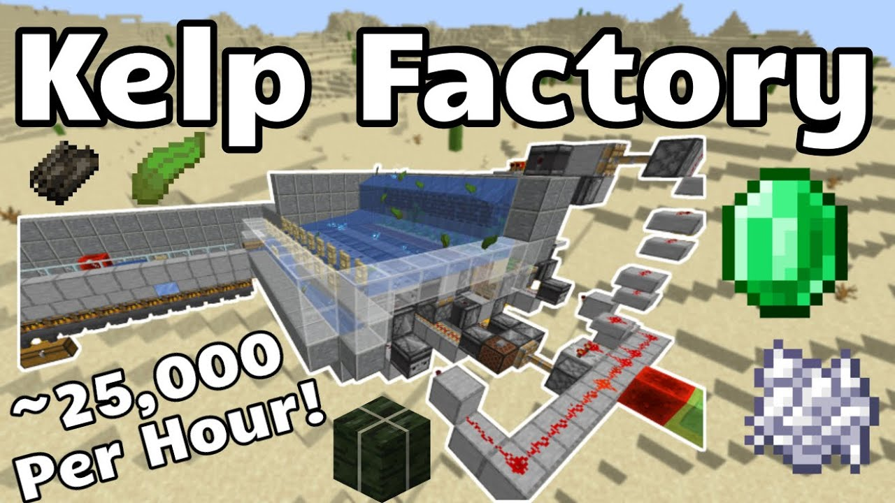 Kelp Factory For EASY XP / Bone Meal / Emeralds / Kelp Blocks (Minecraft  Java 11.111 Snapshot)