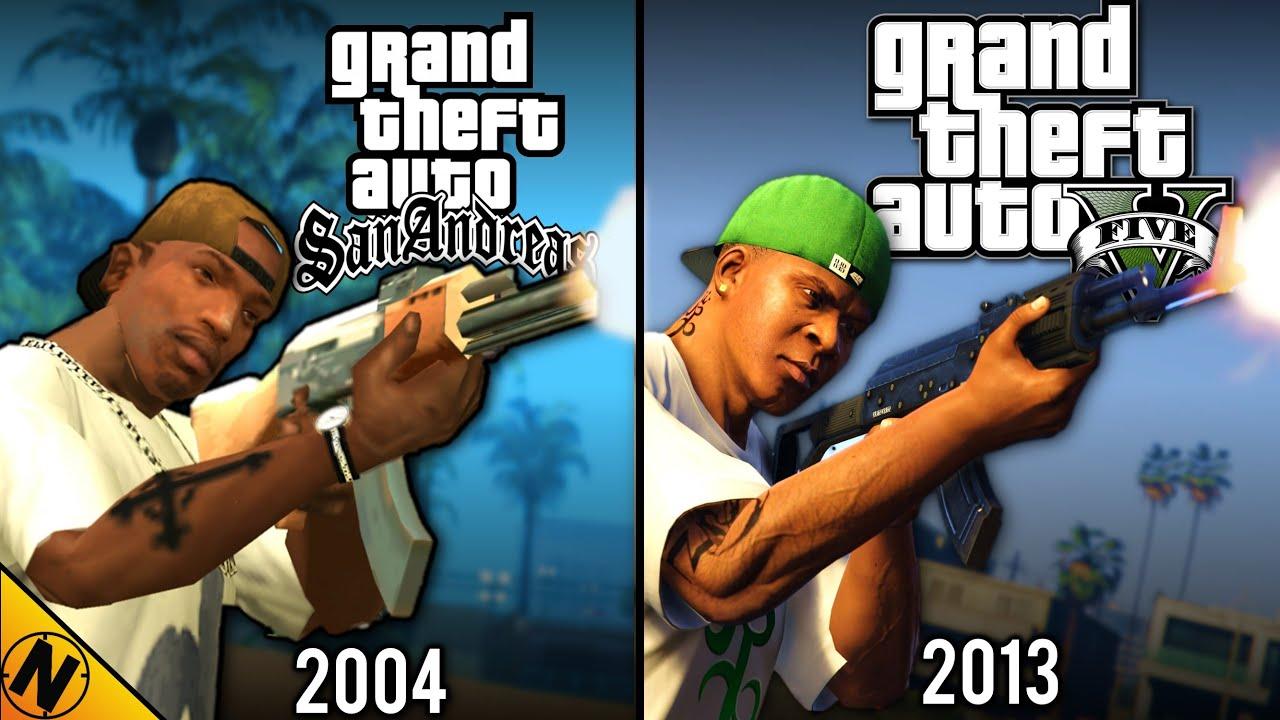 GTAV vs GTA San Andreas | Direct Comparison
