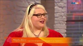 """Die  Fettlöserin Nicole Jäger bei """"MDR um 4"""" zu ihrem Buch  und ihrem Bühnenprogramm"""