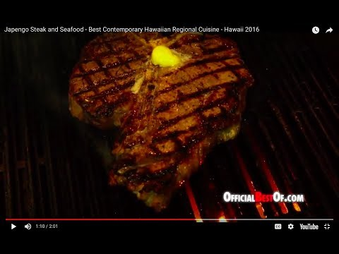Japengo Steak and Seafood - Best Contemporary Hawaiian Regional Cuisine - Hawaii 2016