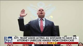 Report Says Trump Asked Whitaker To Have Trump Ally Oversee Cohen Case