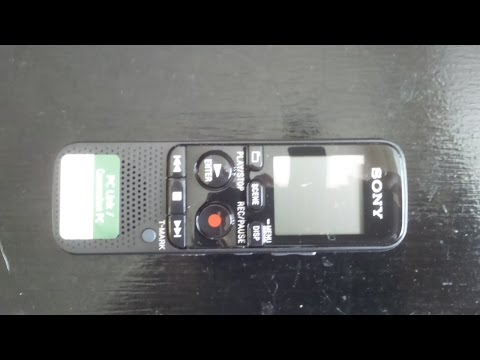 Sony ICDPX333.CE7 MP3 Digital Voice IC Recorder - Review