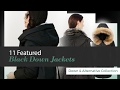 11 Featured Black Down Jackets Down & Alternative Collection