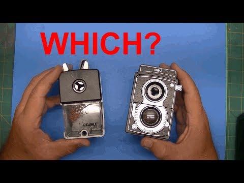 Pencil Sharpener Wars! DAHLE vs DELI Hand Crank Manual Pencil Sharpeners