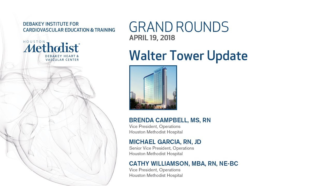 Walter Tower Update (BRENDA CAMPBELL, MICHAEL GARCIA, CATHY WILLIAMSON)  April 19, 2018