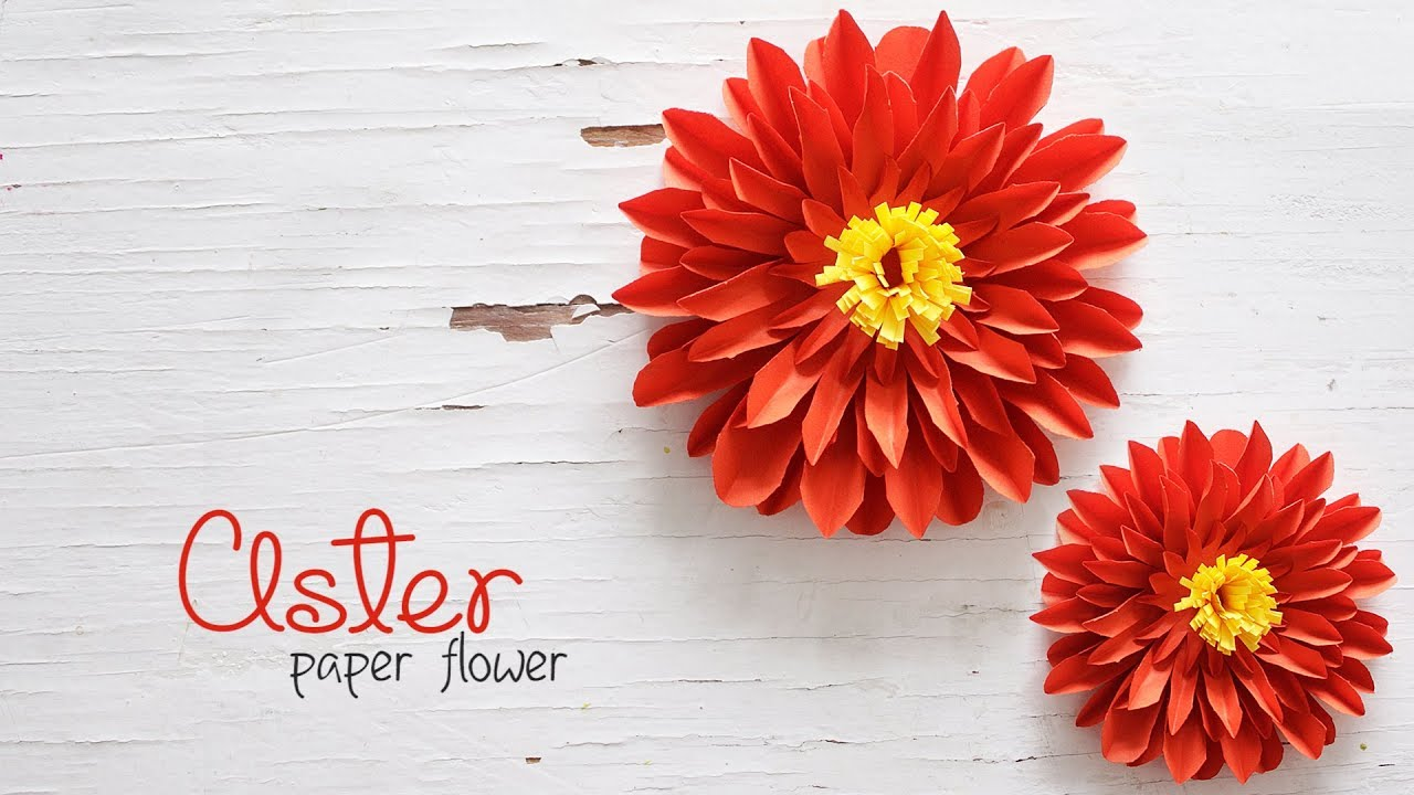 Diy aster flowers youtube diy aster flowers izmirmasajfo Image collections