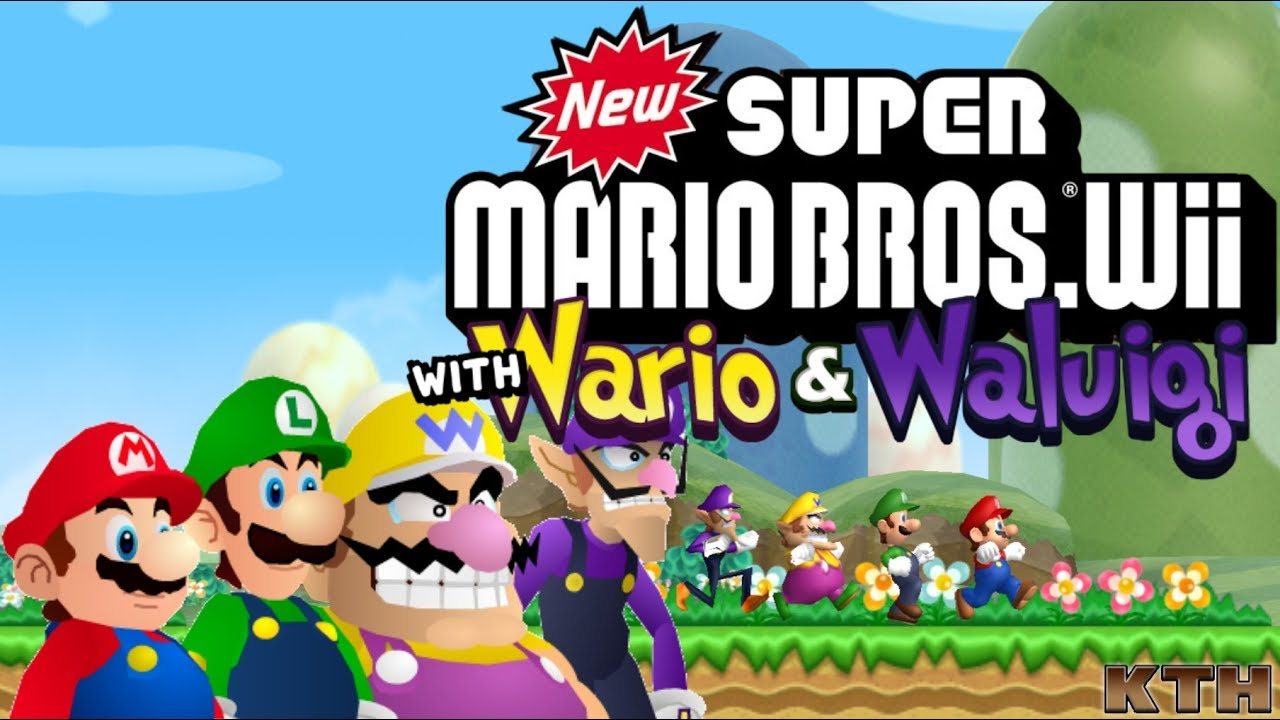 Wario & Waluigi for New Super Mario Bros  Wii over Blue/Yellow Toad Release