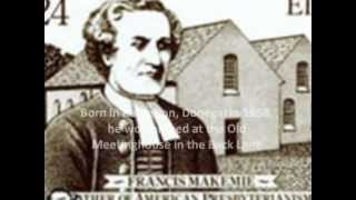 Francis Makemie - Father of American Presbyterianism
