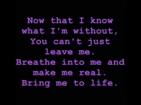 Evanescence - Bring Me To Life *LYRICS*