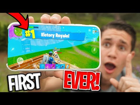 *MOBILE* Fortnite Battle Royale RELEASED! FIRST VICTORY ROYALE!