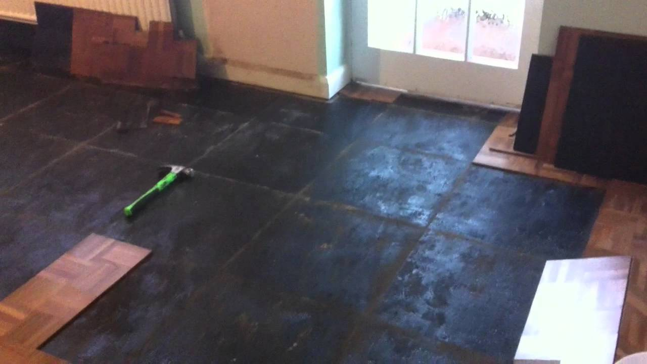 Mahogany Mosaic Tile Parquet Flooring Repairs, Sand and Seal in ...