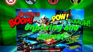 Hot Wheels Track Age Of Ultron Avengers Iron Man Disney Kids Toys Unboxing