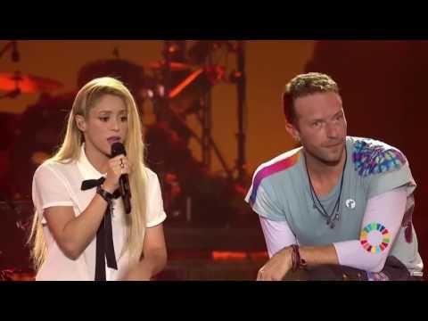 Chantaje - Chris Martin y Shakira at Global Citizen Live