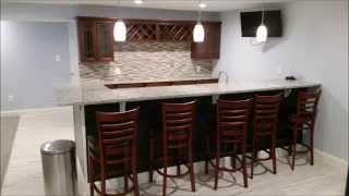 Finished Basement With Full Bar