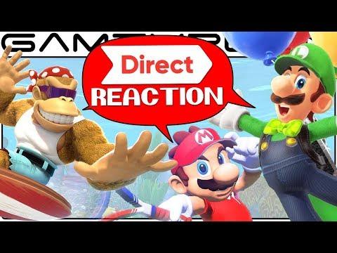 Download Youtube: Nintendo Direct Reaction Discussion: Mario Tennis Aces, Funky Kong, Odyssey Luigi DLC, TWEWY