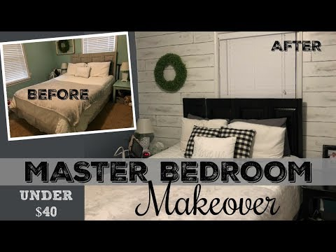 MASTER BEDROOM MAKEOVER // UNDER $40