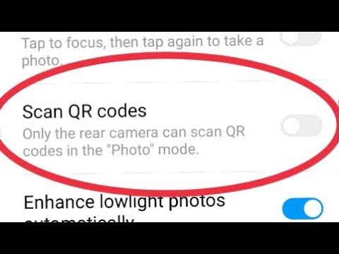 Scan QR Codes || Only The Rear Camera Can Scan QR Codes In The