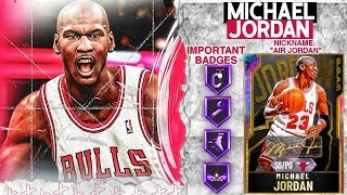 *G.O.A.T* GALAXY OPAL MICHAEL JORDAN GAMEPLAY! 99 ALL STATS + 65 HOF BADGES! NBA 2k20 MyTEAM